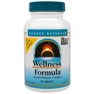 Source Naturals, Wellness Formula, Bio-Align, Herbal Defense Complex, 90 Tablets