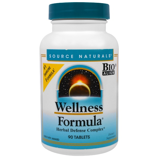 Source Naturals, Wellness Formula, Herbal Defense Complex, 90 Tablets
