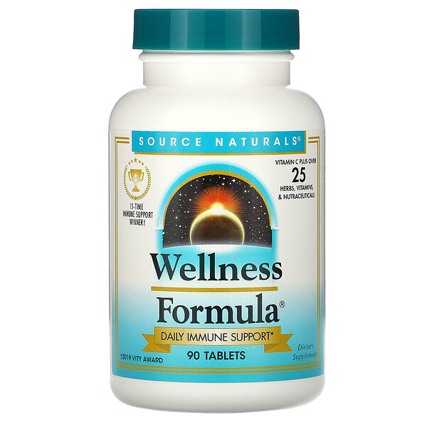 Source Naturals, Wellness Formula, 90 Tablets