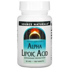 Source Naturals, Alpha Lipoic Acid, 50 mg, 100 Tablets