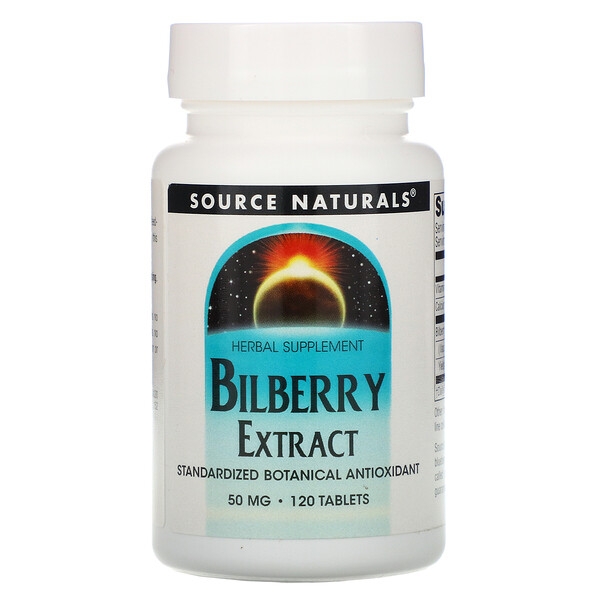 Source Naturals, Bilberry Extract, 120 Tablets