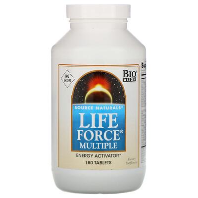 Source Naturals Life Force Multiple, без железа, 180 таблеток