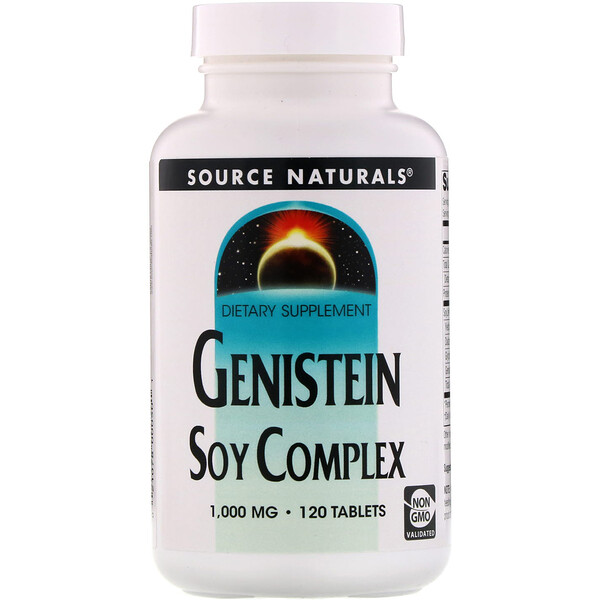 Source Naturals, Genisteína, complejo de soya, 1,000 mg, 120 tabletas