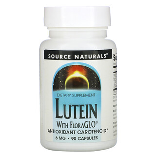 Source Naturals, Lutein, 6 mg, 90 Capsules