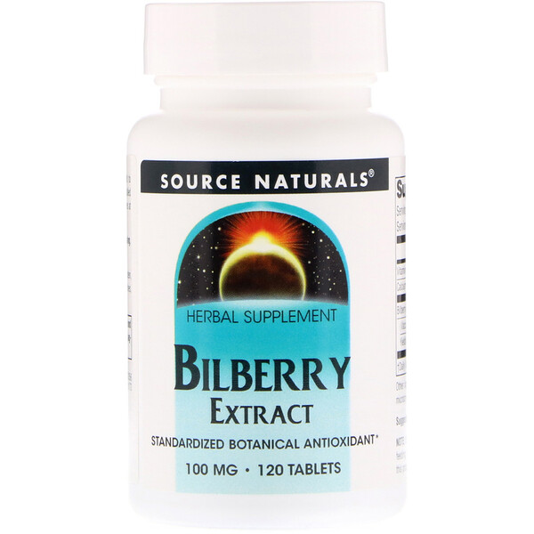 Bilberry Extract, 100 mg, 120 Tablets