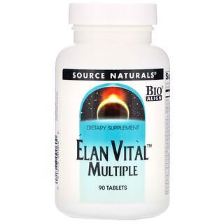 Source Naturals, Elan Vital Multiple, 90 Tablets