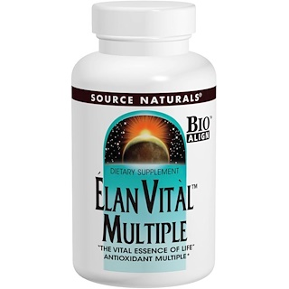 Source Naturals, Elan Vital Multiple, 90 таблеток
