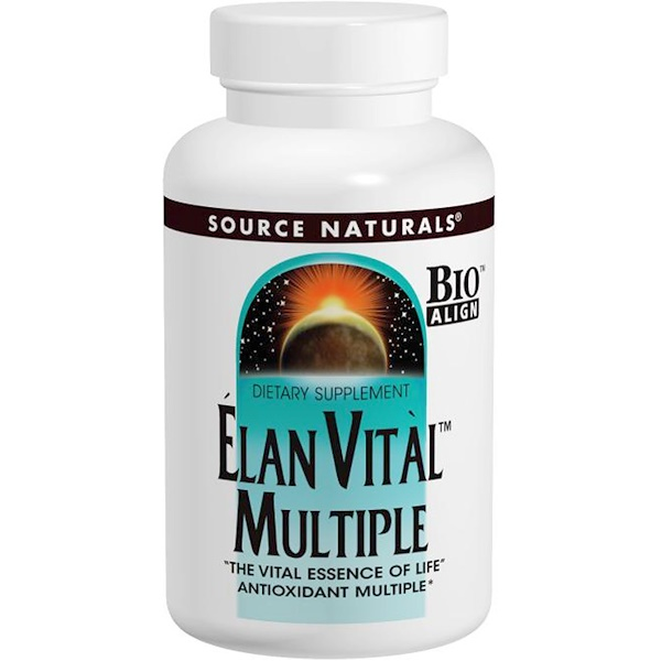 Source Naturals, Elan Vital Multiple، 90 قرص