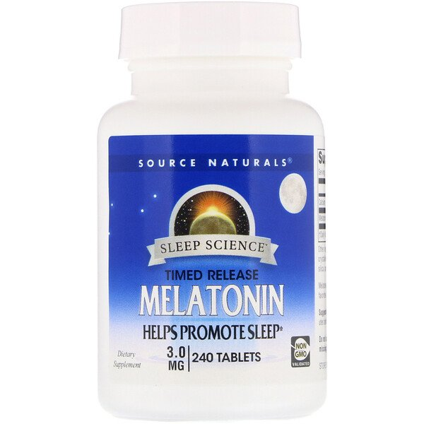 Melatonin, Timed Release, 3 mg, 240 Tablets