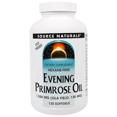 Масло энотеры, 1350 мг, 120 мягких капсул