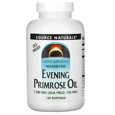 Купить Source Naturals масло примулы вечерней, 1350мг, 120мягких таблеток