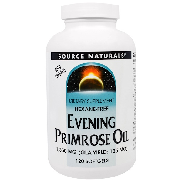 Source Naturals, Evening Primrose Oil, 1,350 mg, 120 Softgels