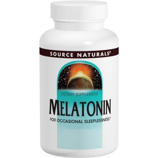 Source Naturals, Melatonin, 2.5 mg, Peppermint Flavored Sublingual, 60 Tablets