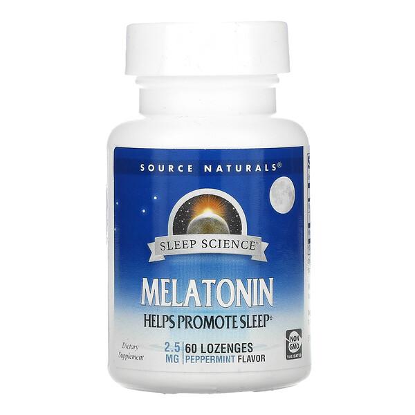 Melatonin, Peppermint, 2.5 mg, 60 Lozenges