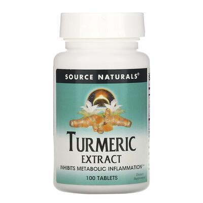 Купить Source Naturals экстракт куркумы, 100таблеток