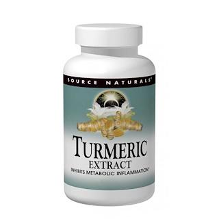 Source Naturals, Extrait de curcuma, 100 Comprimés