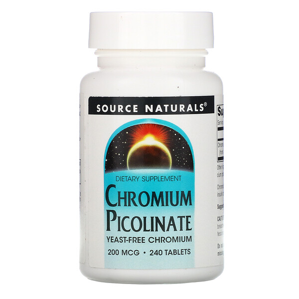 Chromium Picolinate, 200 mcg, 240 Tablets