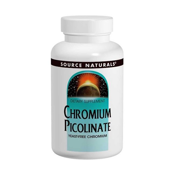Source Naturals, Chromium Picolinate, 200 mcg, 240 Tablets
