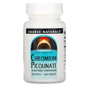 Сорс Начэралс, Chromium Picolinate, 200 mcg, 240 Tablets отзывы