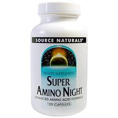 Source Naturals, スーパーアミノナイト、カプセル120錠