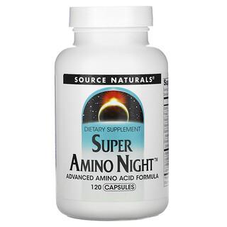 Source Naturals, Super Amino Night, 120 Capsules
