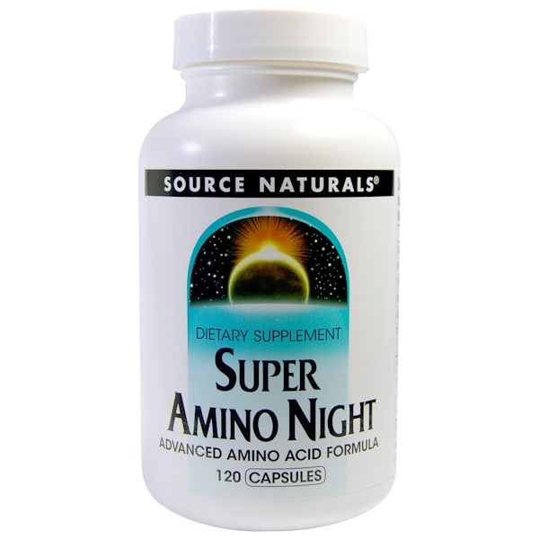 Source Naturals, Super Amino Night, 120 Capsules
