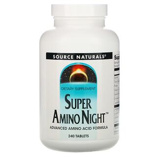 Source Naturals, Super Amino Night, 240 Tablets