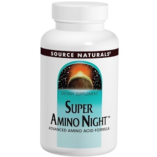 Source Naturals, Super Amino Night夜間氨基酸補充片,240片