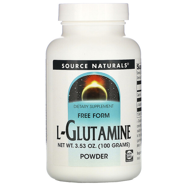 L-Glutamine, Free-Form Powder, 3.53 oz (100 g)