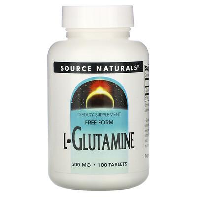 Source Naturals L-глутамин, 500 мг, 100 таблеток