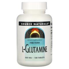 Source Naturals, L-穀氨醯胺,500 毫克,100 片