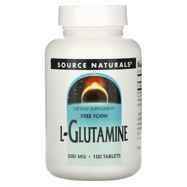 L-Glutamine, 500 mg, 100 Tablets