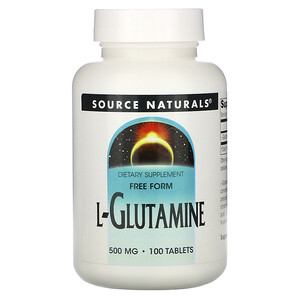 Сорс Начэралс, L-Glutamine, 500 mg, 100 Tablets отзывы покупателей