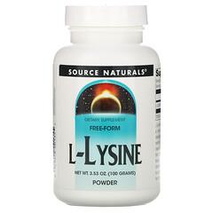 Source Naturals, L-賴氨酸粉,3.53 盎司(100 克)