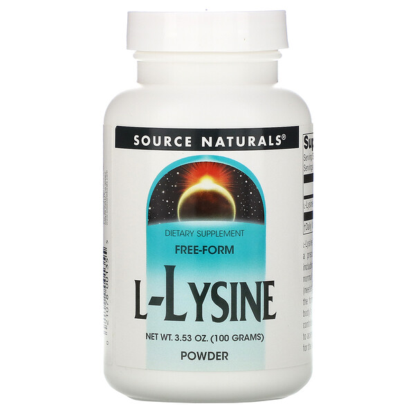 L-Lysine Powder, 3.53 oz (100 g)