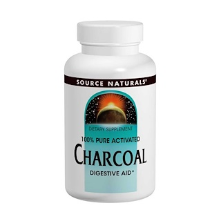 Source Naturals, Carbón, 260 mg, 200 cápsulas