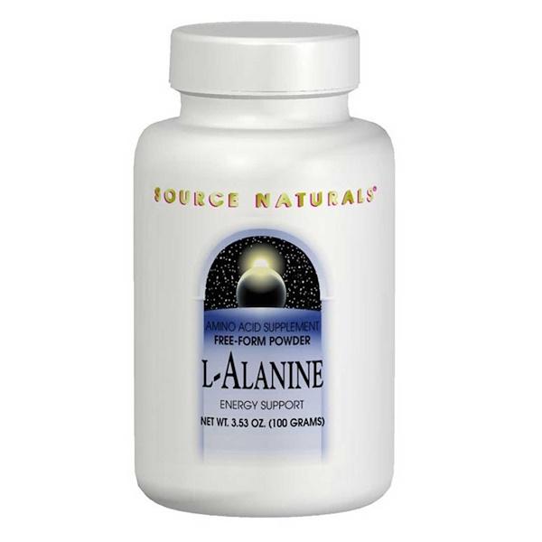 Source Naturals, L-アラニン、 3.53 oz (100 g)