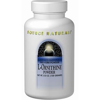 Source Naturals, L-Ornithine Powder, 3.53 oz (100 g)