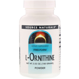 Source Naturals, L-Ornithine Powder, 3.53 oz (100 g)