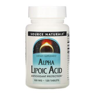Source Naturals, Alpha Lipoic Acid, 100 mg, 120 Tablets