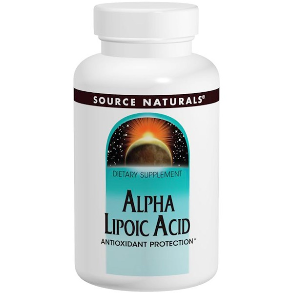 Source Naturals, Ácido alfa lipoico, 100 mg, 120 tabletas