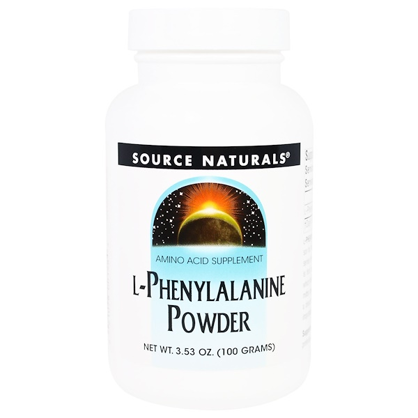 Source Naturals, L-Phenylalanine Powder, 3.53 oz (100 g) (Discontinued Item)