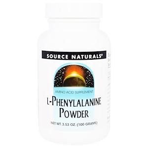 Сорс Начэралс, L-Phenylalanine Powder, 3.53 oz (100 g) отзывы