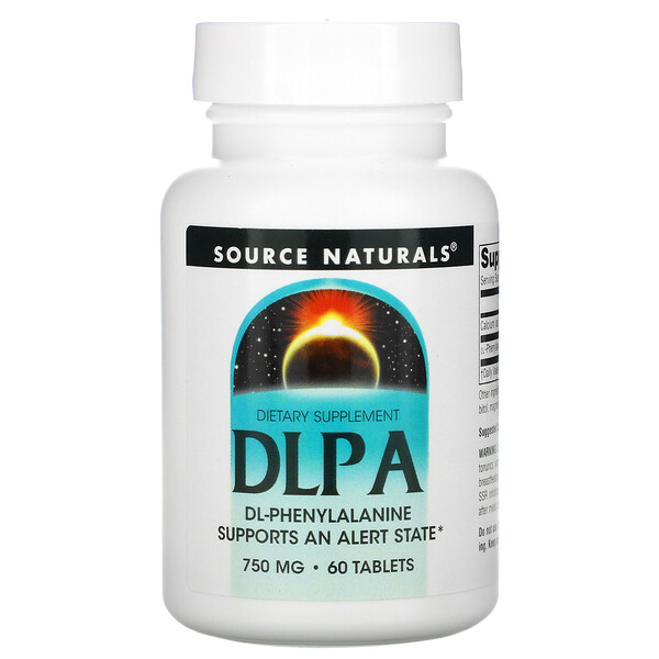 Source Naturals, DLPA, 750 mg, 60 Tablets
