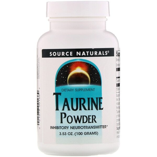 Source Naturals, Taurine Powder, 3.53 oz (100 g)