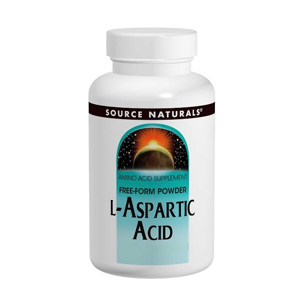 Source Naturals, L-Aspartic Acid, Free-Form Powder, 3.53 oz (100 g)