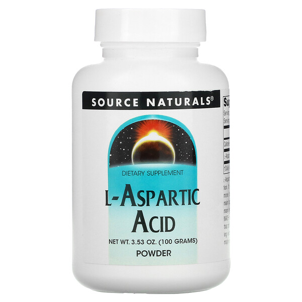Source Naturals, L-Aspartic Acid Powder, 3.53 oz (100 g)