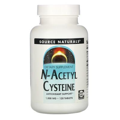 Source Naturals N-ацетилцистеин, 1000 мг, 120 таблеток