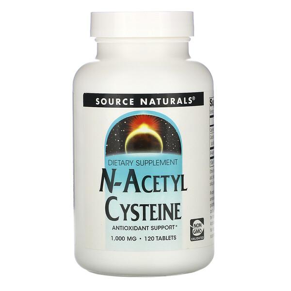 N-Acetil Cisteína, 1000 mg, 120 Comprimidos