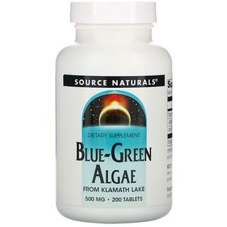 Source Naturals, طحالب خضراء مزرقة، 200 حبة